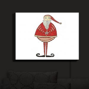 Nightlight Sconce Canvas Light | Valerie Lorimer - Jolly St Nick | Santa Clause Holidays Christmas