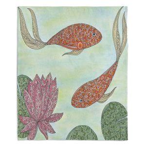 Artistic Sherpa Pile Blankets   Valerie Lorimer - Koi Pond