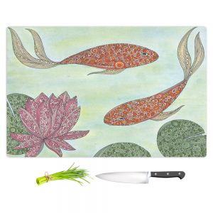 Artistic Kitchen Bar Cutting Boards   Valerie Lorimer - Koi Pond