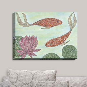 Decorative Canvas Wall Art   Valerie Lorimer - Koi Pond