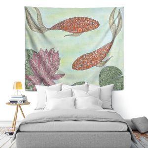 Artistic Wall Tapestry   Valerie Lorimer - Koi Pond