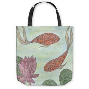 Unique Shoulder Bag Tote Bags   Valerie Lorimer - Koi Pond