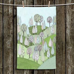 Unique Bathroom Towels   Valerie Lorimer - Little Cottage In The Woods   Landscape hills forest trees
