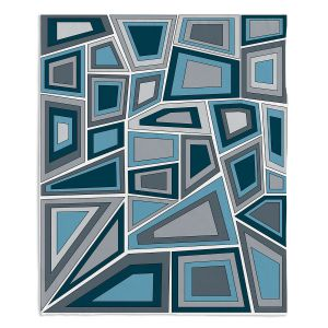 Decorative Fleece Throw Blankets | Valerie Lorimer - Mid Century Tango