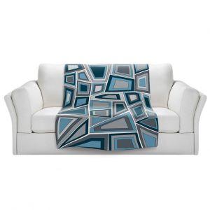 Artistic Sherpa Pile Blankets | Valerie Lorimer - Mid Century Tango