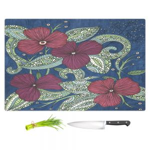 Artistic Kitchen Bar Cutting Boards | Valerie Lorimer - Midnight Garden Flowers