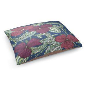 Decorative Dog Pet Beds | Valerie Lorimer - Midnight Garden Flowers