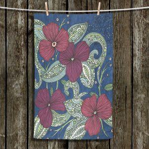 Unique Hanging Tea Towels | Valerie Lorimer - Midnight Garden Flowers | Garden Flowers Plants