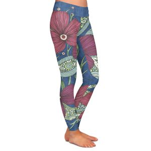 Casual Comfortable Leggings | Valerie Lorimer - Midnight Garden Flowers