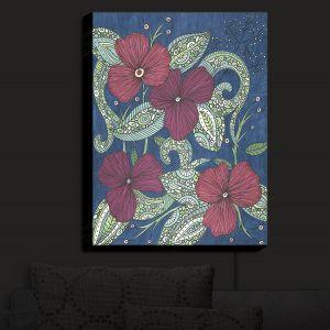 Nightlight Sconce Canvas Light   Valerie Lorimer - Midnight Garden Flowers   Garden Flowers Plants