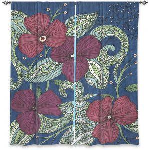Decorative Window Treatments   Valerie Lorimer - Midnight Garden Flowers