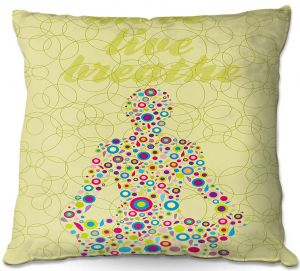 Decorative Outdoor Patio Pillow Cushion | Valerie Lorimer - Move Live Breath