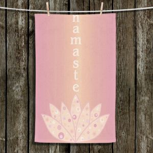 Unique Hanging Tea Towels | Valerie Lorimer - Namaste | Lotus Inspiring Peaceful Saying