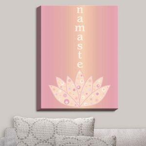 Decorative Canvas Wall Art | Valerie Lorimer - Namaste | Lotus Inspiring Peaceful Saying