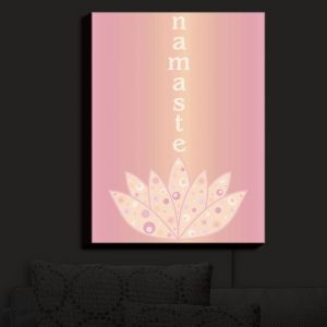 Nightlight Sconce Canvas Light | Valerie Lorimer - Namaste | Lotus Inspiring Peaceful Saying