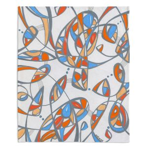 Decorative Fleece Throw Blankets | Valerie Lorimer - New Journey | abstract pattern