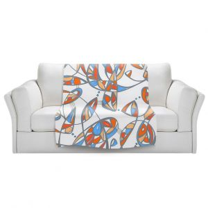 Artistic Sherpa Pile Blankets | Valerie Lorimer - New Journey | abstract pattern