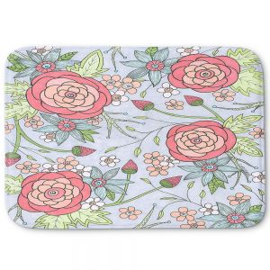 Decorative Bathroom Mats | Valerie Lorimer - Once Upon A Rose | Flowers floral pattern