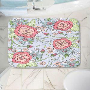 Decorative Bathroom Mats | Valerie Lorimer - Once Upon A Rose | Flowers floral pattern