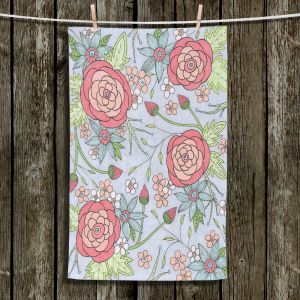 Unique Bathroom Towels | Valerie Lorimer - Once Upon A Rose | Flowers floral pattern