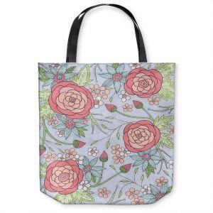 Unique Shoulder Bag Tote Bags   Valerie Lorimer - Once Upon A Rose   Flowers floral pattern
