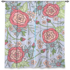 Decorative Window Treatments   Valerie Lorimer - Once Upon A Rose   Flowers floral pattern