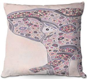 Decorative Outdoor Patio Pillow Cushion | Valerie Lorimer - Return Of the Queen