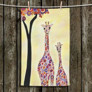 Unique Hanging Tea Towels | Valerie Lorimer - Room to Grow | Trees Giraffes Animals