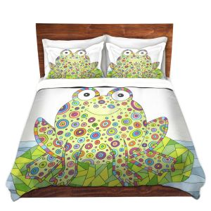 Artistic Duvet Covers and Shams Bedding | Valerie Lorimer - The Cheerful Frog