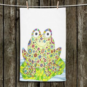 Unique Hanging Tea Towels | Valerie Lorimer - The Cheerful Frog | Reptile Childlike