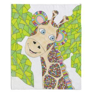 Artistic Sherpa Pile Blankets | Valerie Lorimer The Kind Giraffe