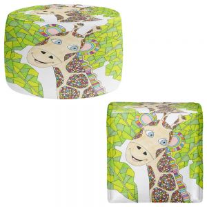 Round and Square Ottoman Foot Stools | Valerie Lorimer - The Kind Giraffe