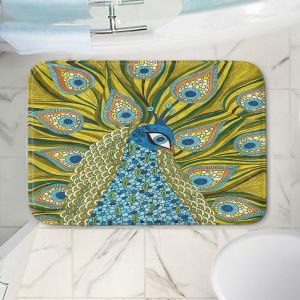 Decorative Bathroom Mats | Valerie Lorimer - The Peacock