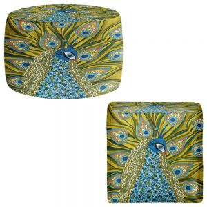 Round and Square Ottoman Foot Stools | Valerie Lorimer - The Peacock