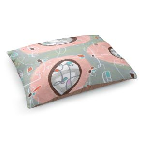 Decorative Dog Pet Beds | Valerie Lorimer - Twist and Shout | abstract circle pattern mid century