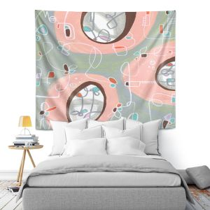 Artistic Wall Tapestry | Valerie Lorimer - Twist and Shout | abstract circle pattern mid century