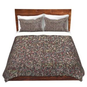 Artistic Duvet Covers and Shams Bedding | Valerie Lorimer - Wandering Souls | Pattern repetition abstract