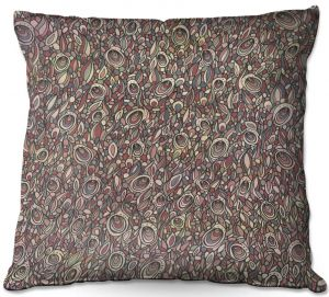 Throw Pillows Decorative Artistic | Valerie Lorimer - Wandering Souls | Pattern repetition abstract
