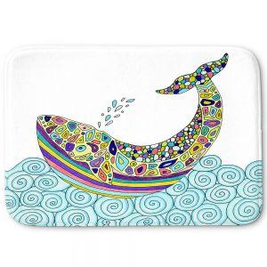 Decorative Bathroom Mats | Valerie Lorimer - Whale Tune
