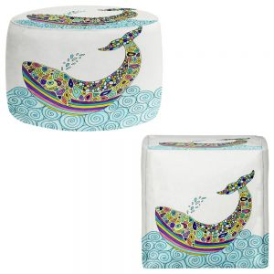 Round and Square Ottoman Foot Stools | Valerie Lorimer - Whale Tune