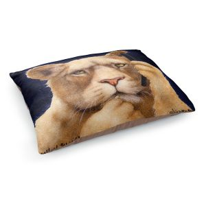Decorative Dog Pet Beds | Will Bullas - Call of the Wild | Lion Puma nature animal big cat phone pun joke