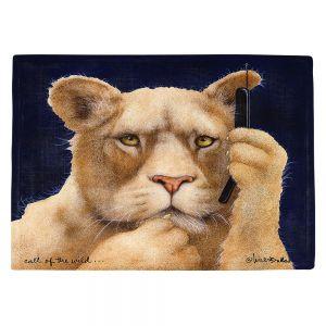 Countertop Place Mats | Will Bullas - Call of the Wild | Lion Puma nature animal big cat phone pun joke