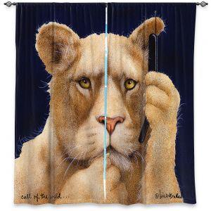 Decorative Window Treatments | Will Bullas - Call of the Wild | Lion Puma nature animal big cat phone pun joke