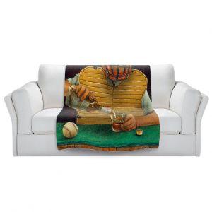 Artistic Sherpa Pile Blankets   Will Bullas - Catcher in the Rye   baseball liquor whiskey drink alcohol umpire bar pun joke