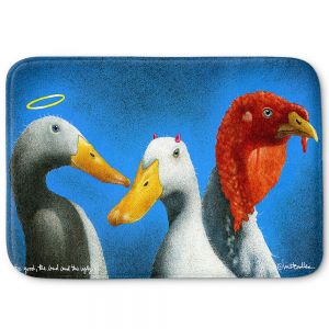 Decorative Bathroom Mats | Will Bullas - Good the Bad and the Ugly | Duck bird pun joke nature animal