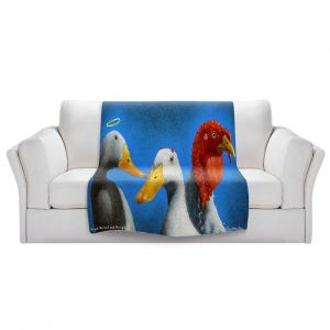 Artistic Sherpa Pile Blankets   Will Bullas - Good the Bad and the Ugly   Duck bird pun joke nature animal