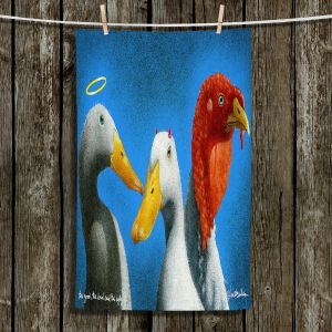 Unique Hanging Tea Towels | Will Bullas - Good the Bad and the Ugly | Duck bird pun joke nature animal