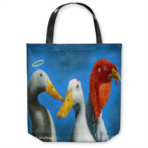 Unique Shoulder Bag Tote Bags | Will Bullas - Good the Bad and the Ugly | Duck bird pun joke nature animal