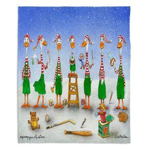 Decorative Fleece Throw Blankets | Will Bullas - Improving Your Elf Esteem | Duck geese christmas snow winter north pole santa xmas holiday pun joke