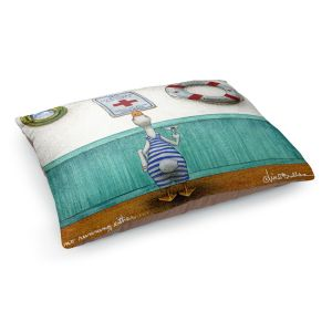 Decorative Dog Pet Beds   Will Bullas - No Running Either   Duck pool swimming martini titanic animal nature pun joke